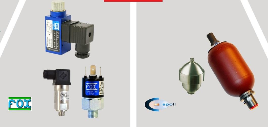 سنسورهای فشار و دمای FOX و آکومولاتورهای EPE